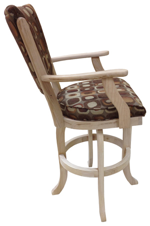 Classic with Arms Bar Stool side