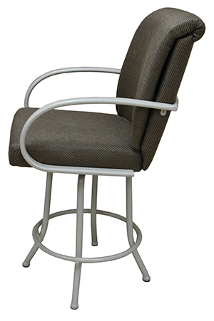 Tobias Designs M 60 With Arms Metal Base Barstool