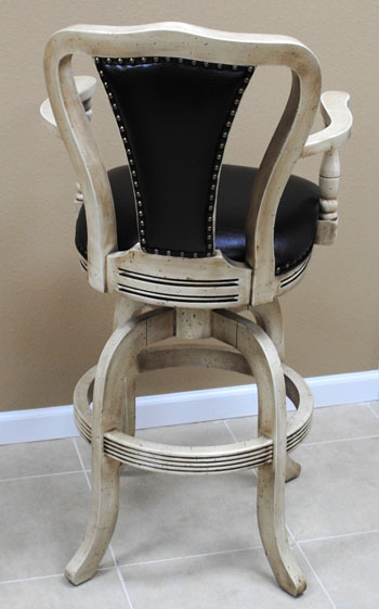 Rose Bar Stool Upholstered Back back