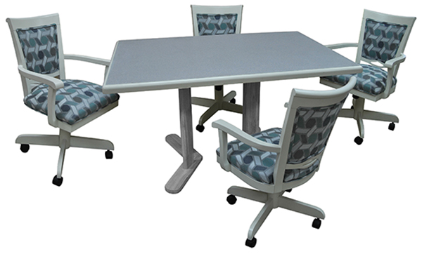 Tobias Designs Dinette With 400 Caster Chairs 36 X 54 Table