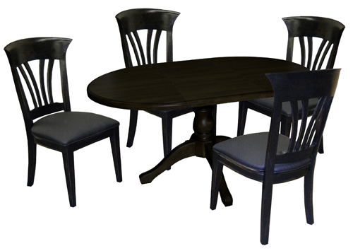 Tobias Designs 42x42x60 Dinette with Wave Side Chairs : waveSideChairs60ovalWoodTable from tobiasdesigns.com size 500 x 355 jpeg 100kB